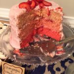 Ombre Real Strawberry & Champagne Cake