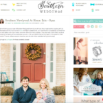 Feature on Southern Weddings!