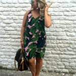 Pink & Green Palm Dress by Topshop